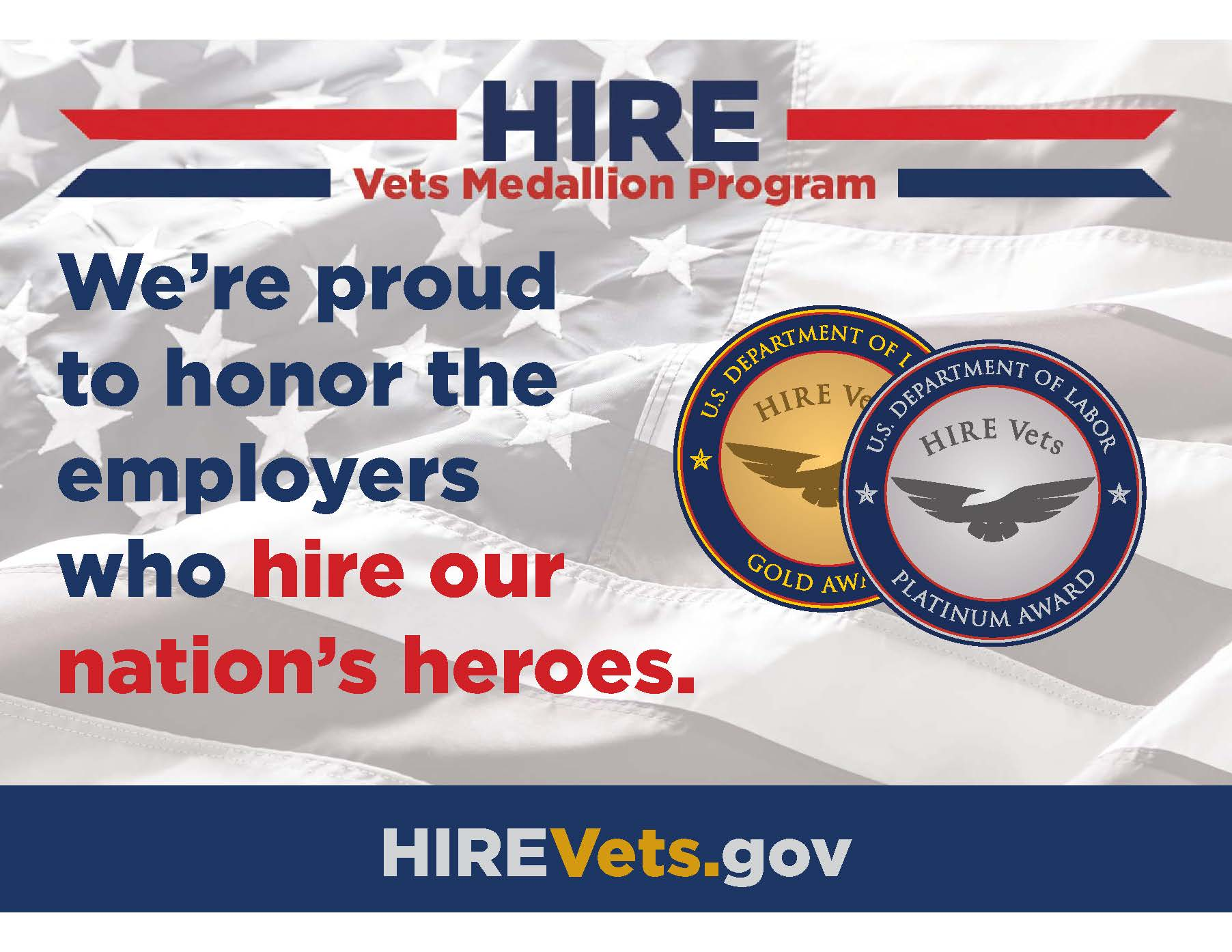 We're proud to honor the employers who hire our nation's heroes